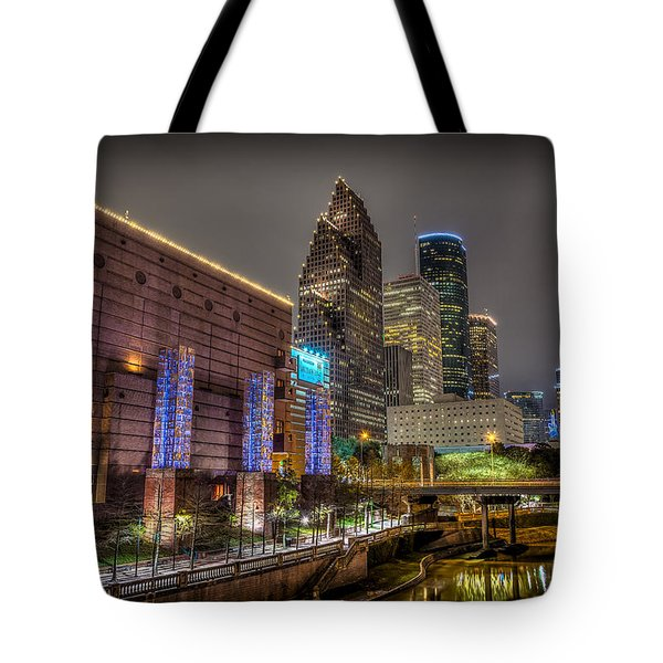 Tote Bag featuring the photograph Cloudy Night In Houston by David Morefield