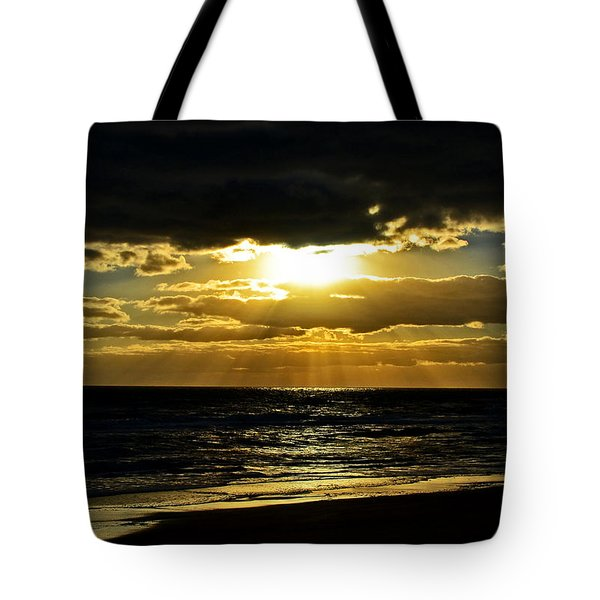 Cloudy Sunrise At Flagler Beach 002 Tote Bag