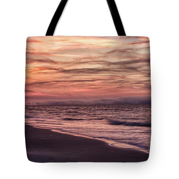 Tote Bag featuring the photograph Cloudy Sunrise At The Beach by John McGraw