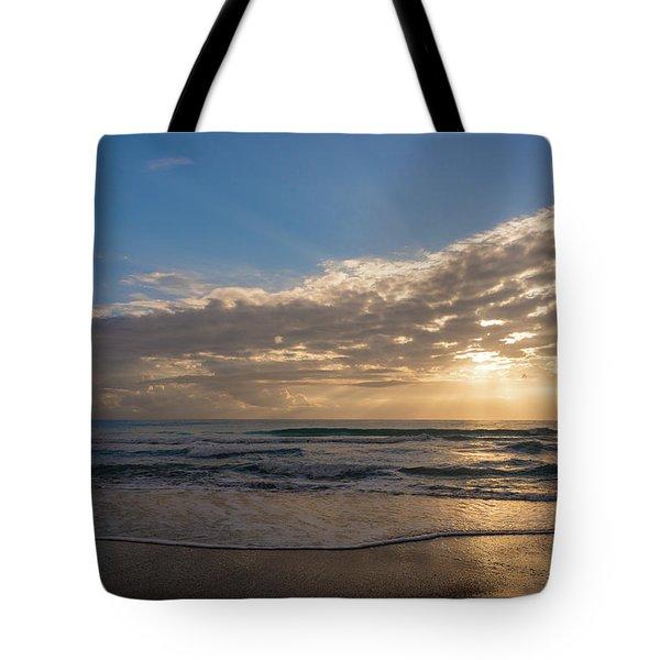 Cloudy Sunrise In The Mediterranean Tote Bag
