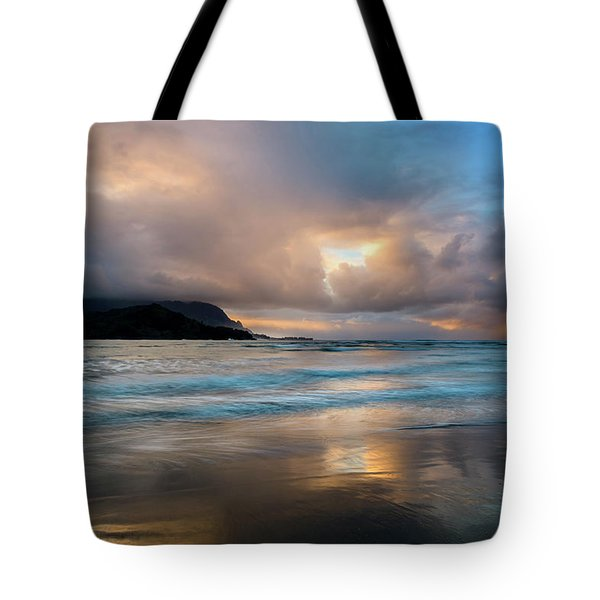Cloudy Sunset At Hanalei Bay Tote Bag