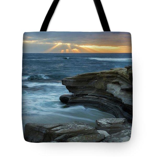 Cloudy Sunset At La Jolla Shores Beach Tote Bag