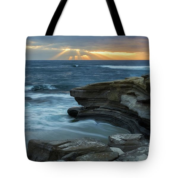 Cloudy Sunset At La Jolla Shores Beach Tote Bag