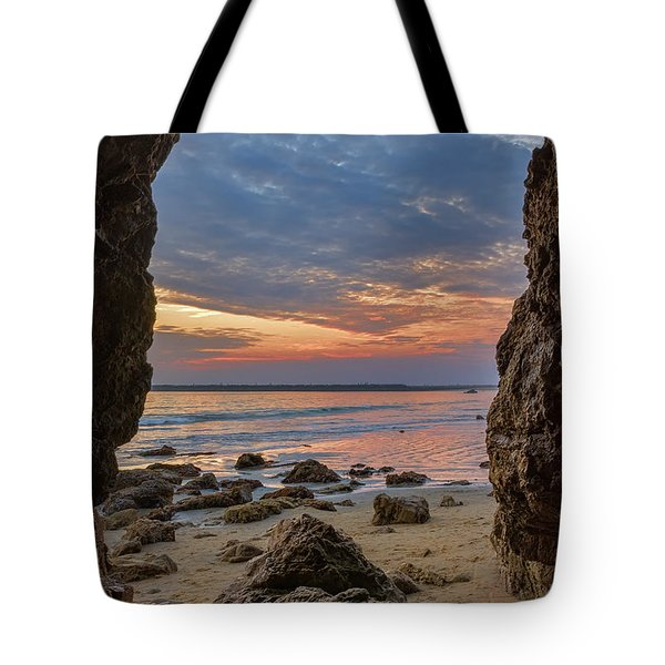Cloudy Sunset At Low Tide Tote Bag