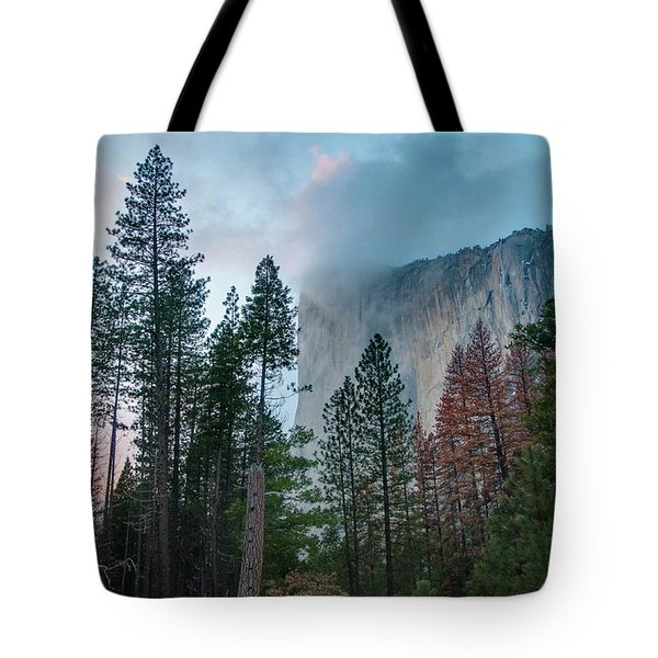 Cloudy Sunset On El Capitan Tote Bag