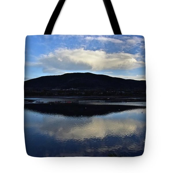 Cloudy Waters Of Colorado Tote Bag