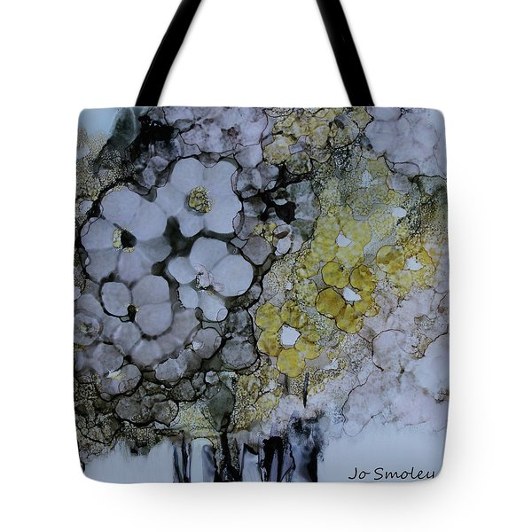 Tote Bag featuring the painting Cloudy With A Chance Of Sunshine by Joanne Smoley