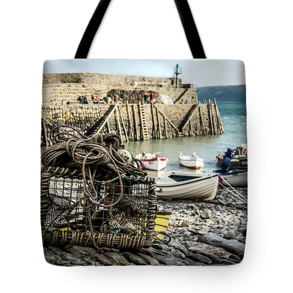 Clovelly Crab Trap Tote Bag