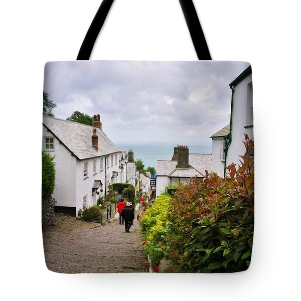 Clovelly High Street Tote Bag by Richard Brookes