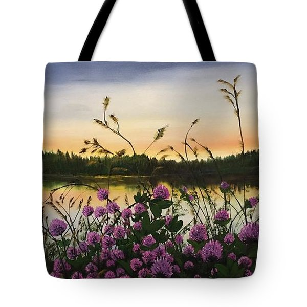 Clover Sunrise  Tote Bag