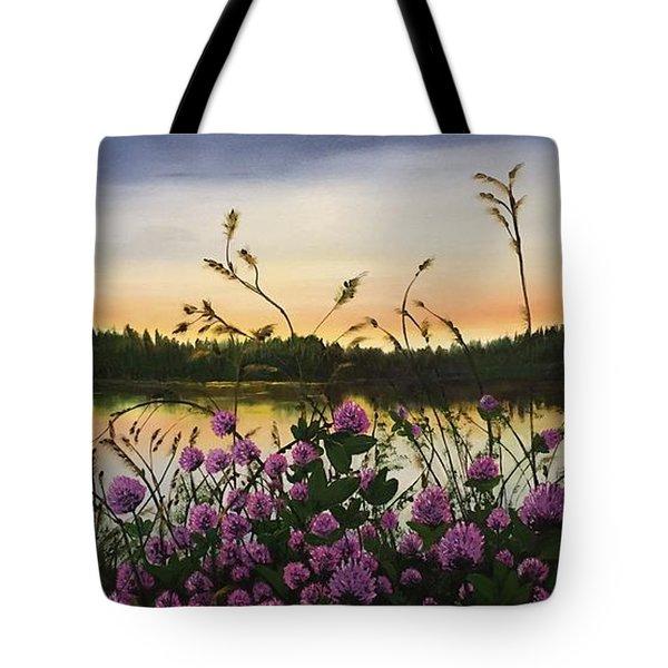 Clover Sunrise  Tote Bag