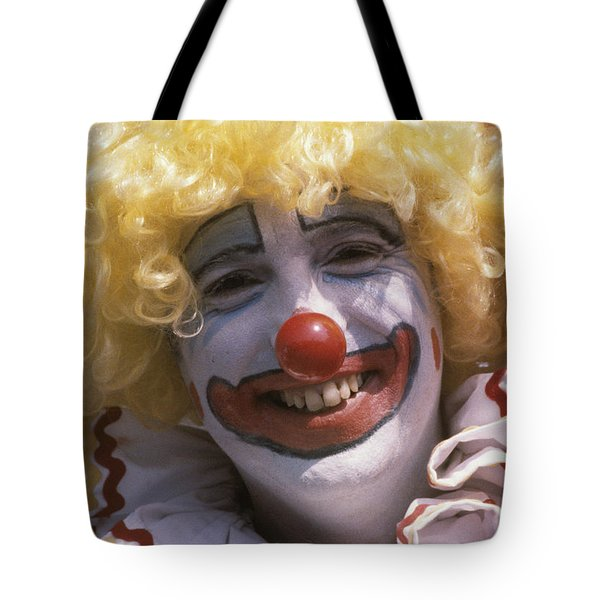 Tote Bag featuring the photograph Clown-1 by Donald Paczynski