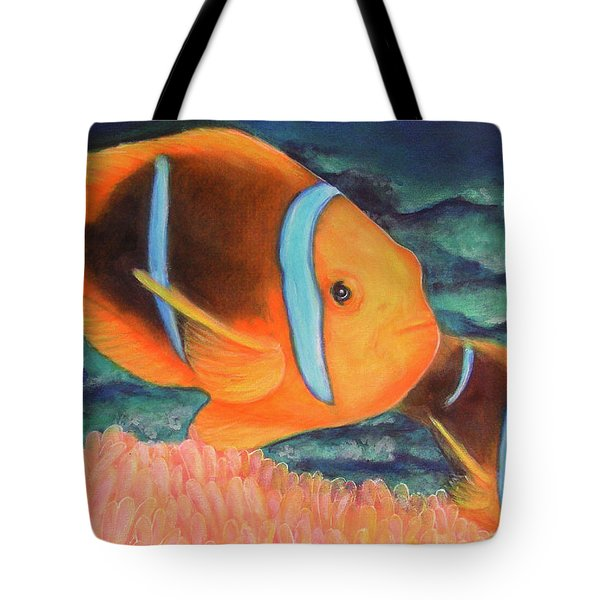 Clown Fish #310 Tote Bag by Donald k Hall