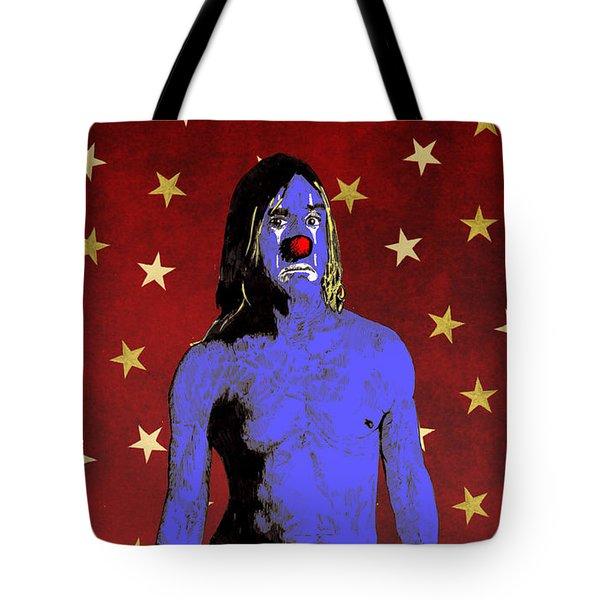 Clown Iggy Pop Tote Bag by Jason Tricktop Matthews