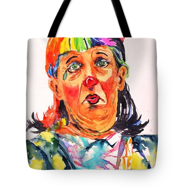 Clown Series Oh No  Tote Bag