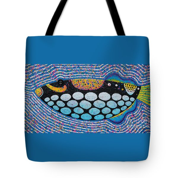 Clown Triggerfish 2011 Tote Bag by Opas Chotiphantawanon