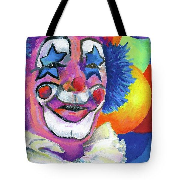 Clown With Balloons Tote Bag