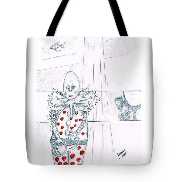 Clown With Crystal Ball And Mermaid Tote Bag