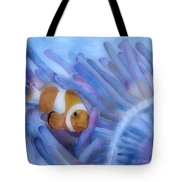 Clownfish And The Sea Anemone Tote Bag by Arline Wagner