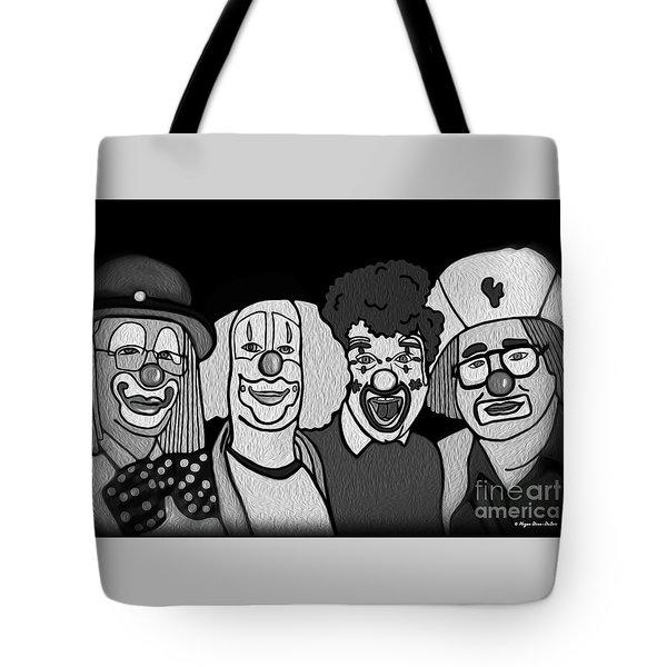 Clowns Bw Tote Bag