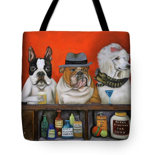 Club K9 Tote Bag by Leah Saulnier The Painting Maniac