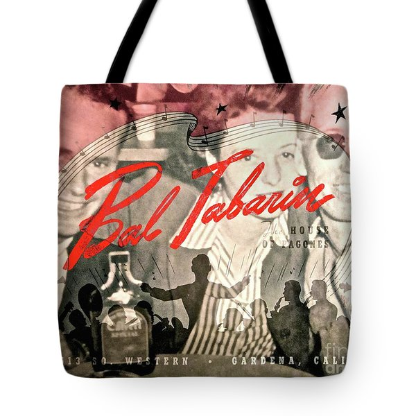 Clubbing In The 50s Tote Bag by Gwyn Newcombe