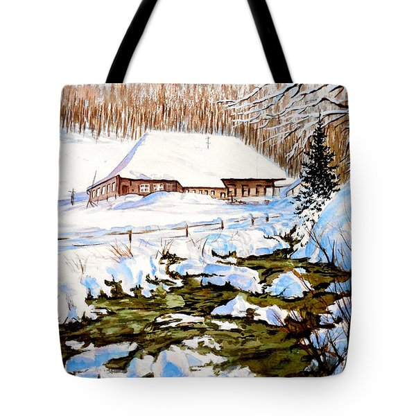 Clubhouse In Winter Tote Bag