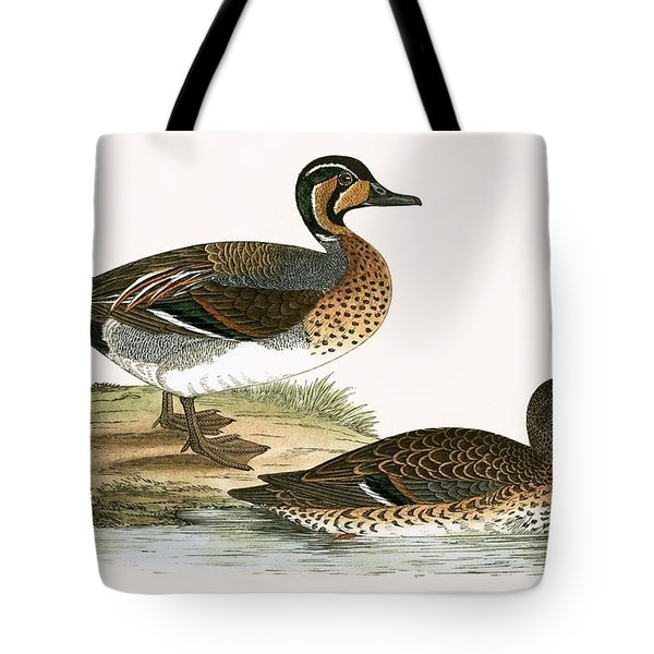 Clucking Teal Tote Bag by English School