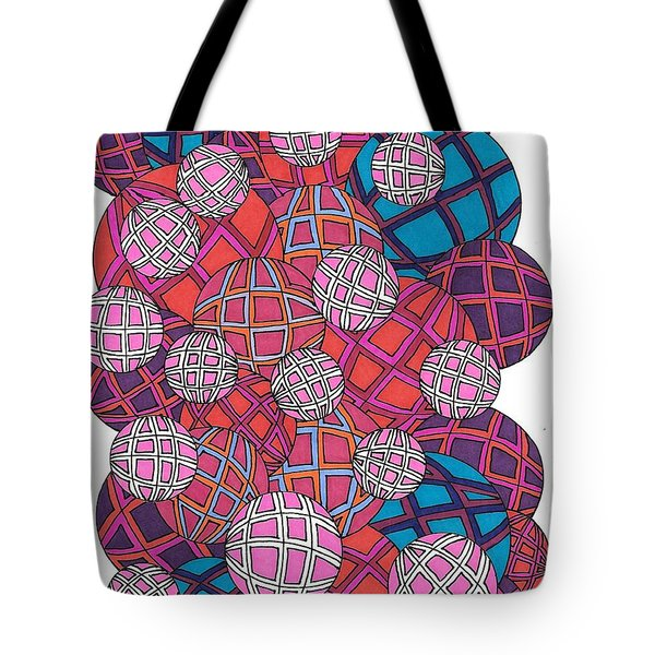 Cluster Of Spheres Tote Bag