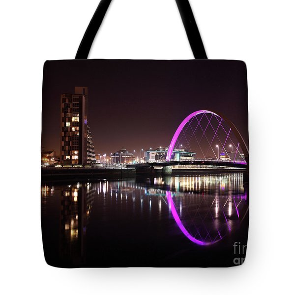 Clyde Arc Night Reflections Tote Bag