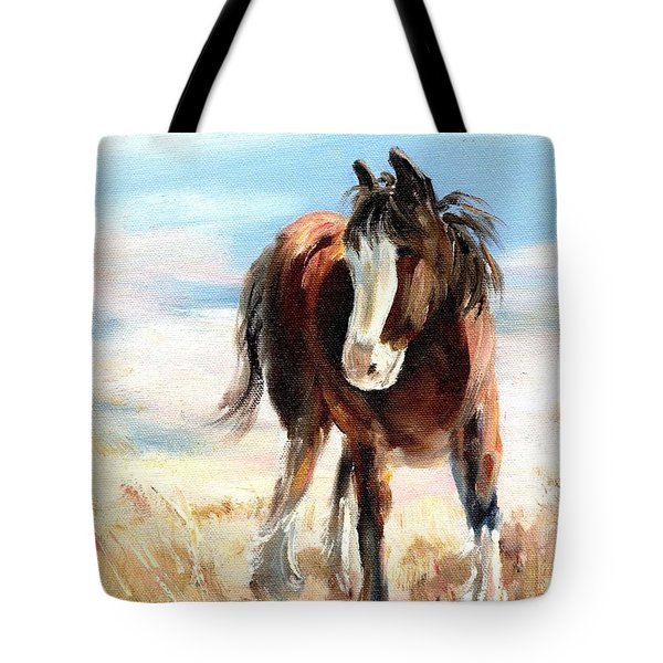 Clydesdale Foal Tote Bag