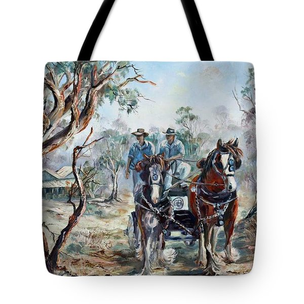 Clydesdales And Cart Tote Bag