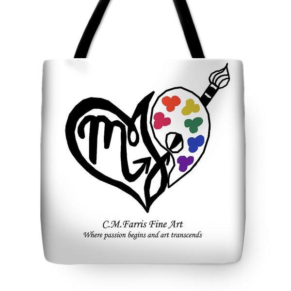 Tote Bag featuring the digital art Cmfarris Logo Brand by Christopher Farris