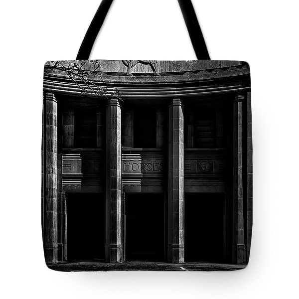 Tote Bag featuring the photograph Cne Horse Palace Toronto Canada by Brian Carson