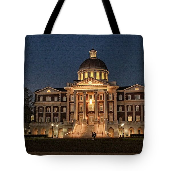 Christopher Newport Hall At Christopher Newport University Tote Bag