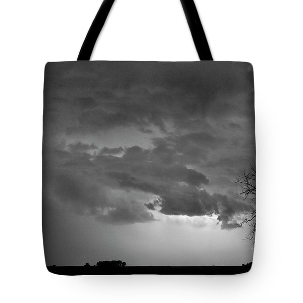 Co Cloud To Cloud Lightning Thunderstorm 27 Bw Tote Bag by James BO  Insogna