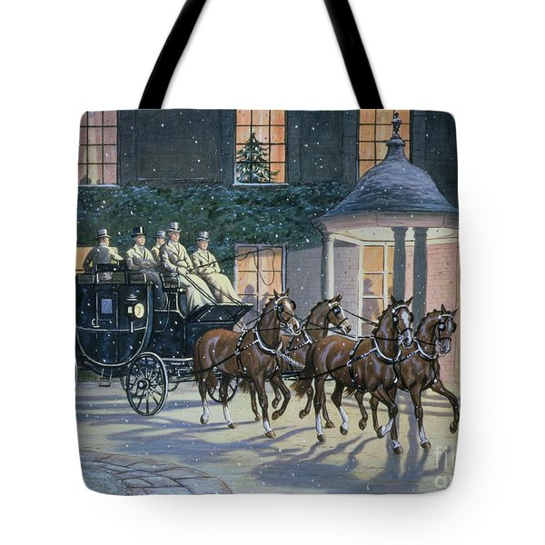 Coaching At Hurlingham Tote Bag by Ninetta Butterworth