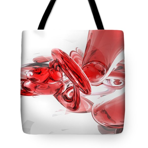 Coagulation Abstract Tote Bag