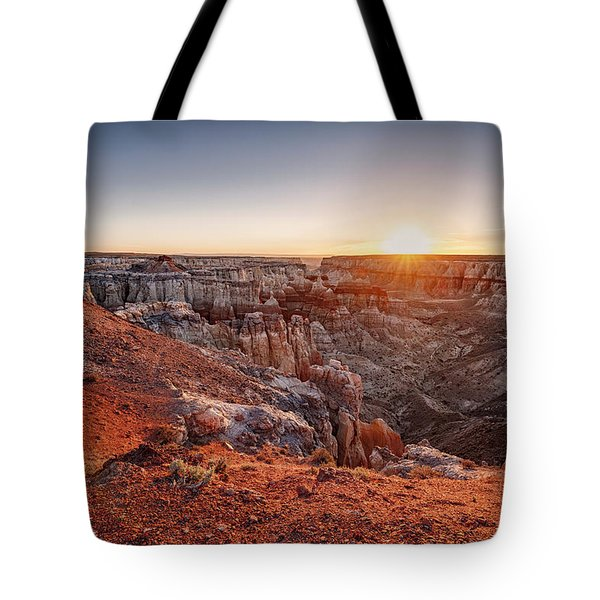 Coal Mine Canyon Sunrise Tote Bag