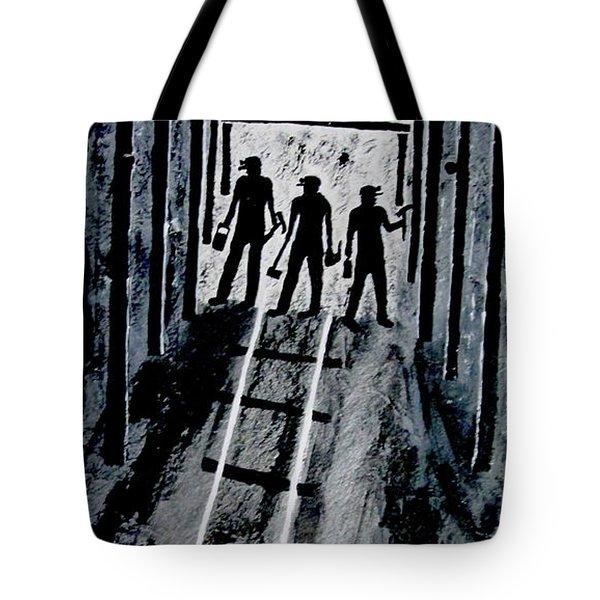 Coal Miners At Work Tote Bag