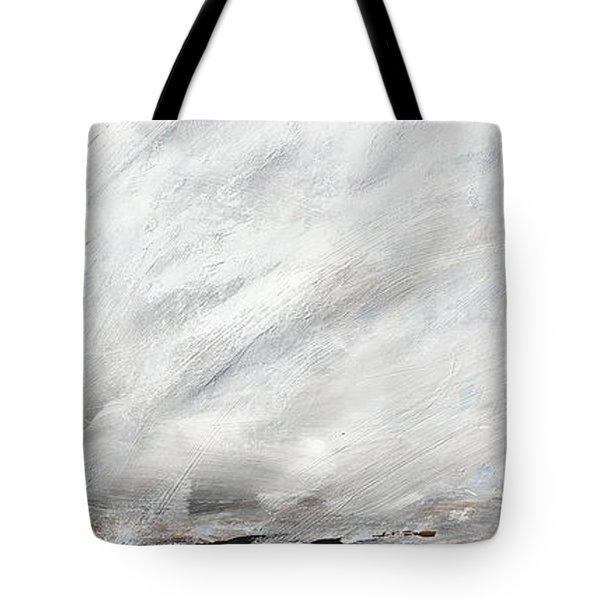 Coast #14 Ocean Landscape Original Fine Art Acrylic On Canvas Tote Bag