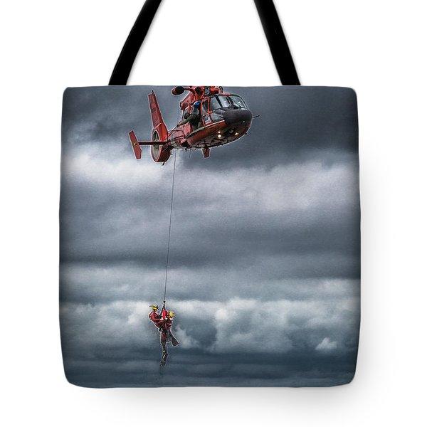 Coast Guard Rescue Operation  Tote Bag