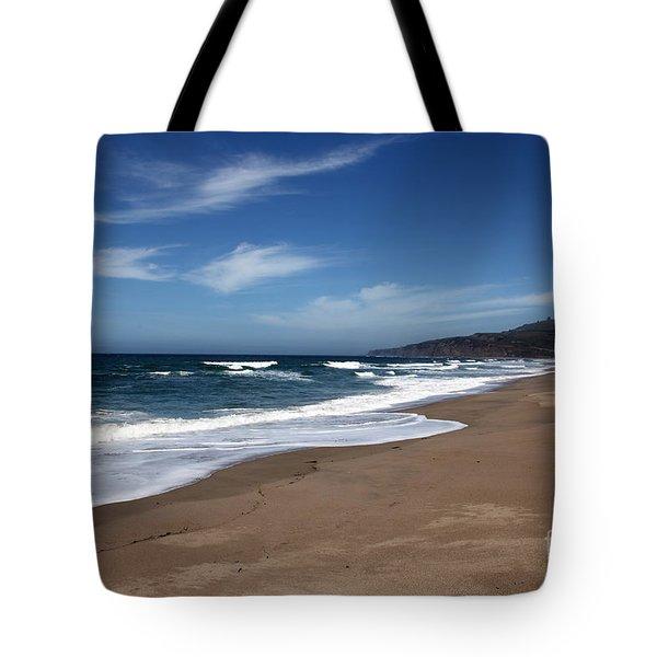 Coast Line Tote Bag by Amanda Barcon