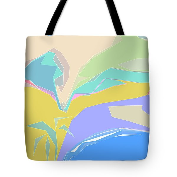 Tote Bag featuring the digital art Coast Of Azure by Gina Harrison