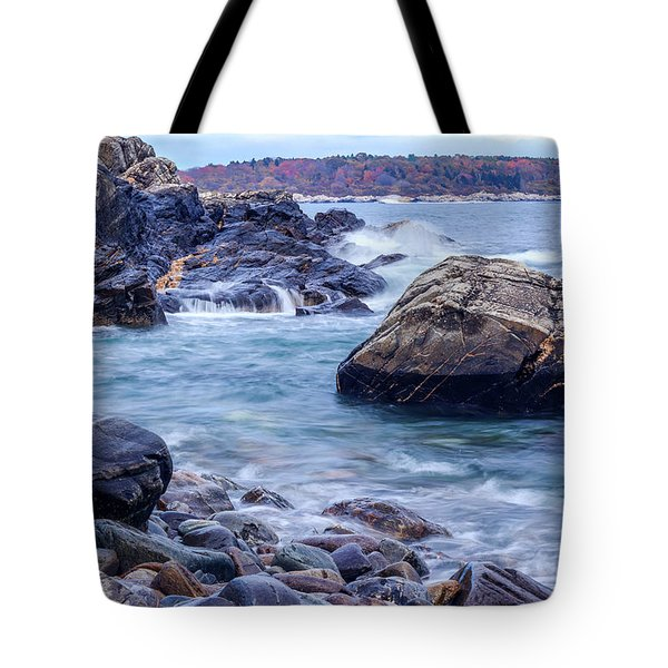 Tote Bag featuring the photograph Coast Of Maine In Autumn by Doug Camara