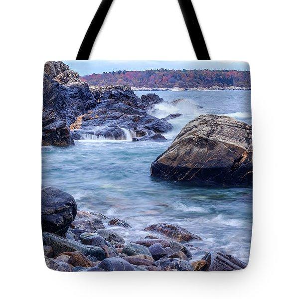 Coast Of Maine In Autumn Tote Bag