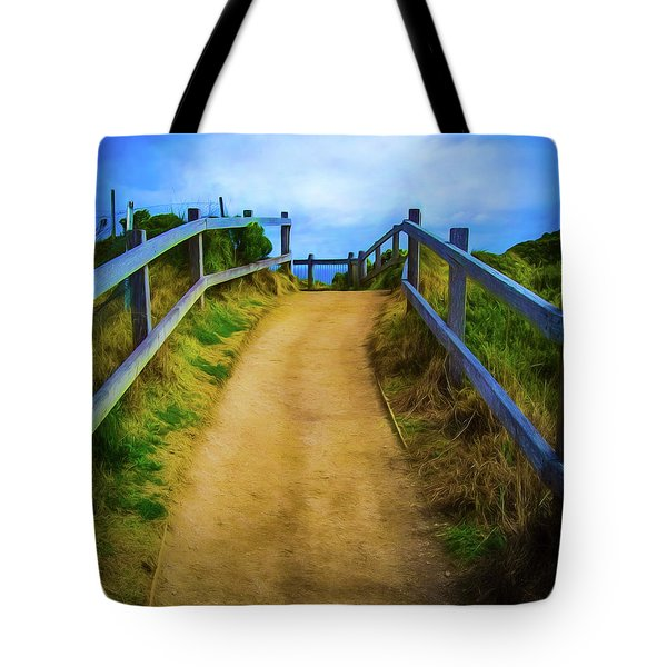 Tote Bag featuring the photograph Coast Path by Perry Webster