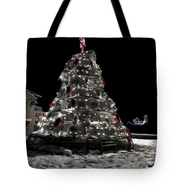 Coastal Christmas Tote Bag