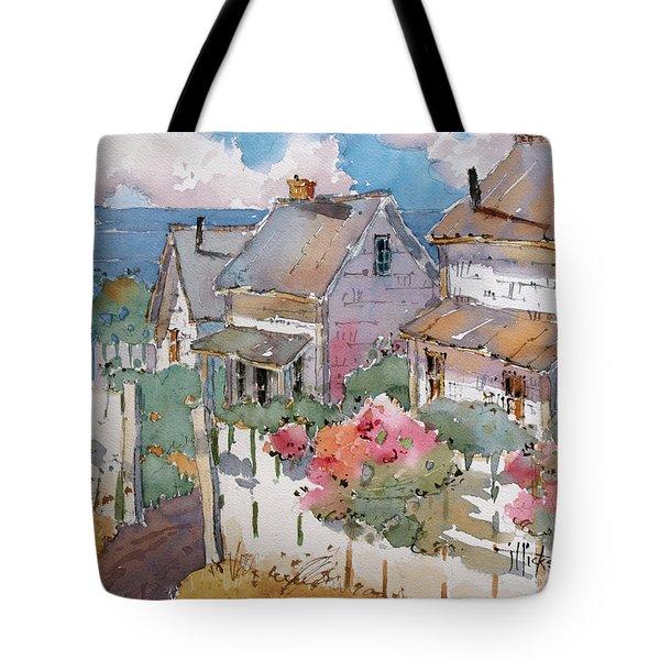 Coastal Cottages Tote Bag