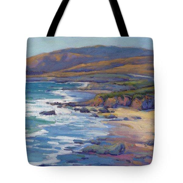 Coastal Cruising 8, San Simeon Tote Bag